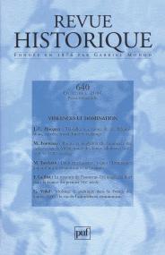 Revue historique 2006, n° 640