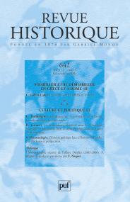 Revue historique 2007, n° 642