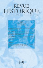 Revue historique 2008, n° 645