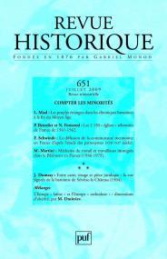 Revue historique 2009, n° 651