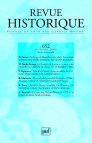 Revue historique 2009, n° 652
