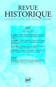 Revue historique 2010, n° 655