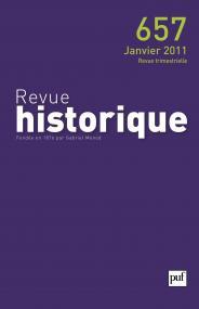 Revue historique 2011, n° 657