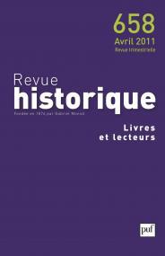 Revue historique 2011, n° 658