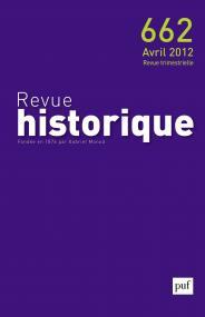 Revue historique 2012, n° 662
