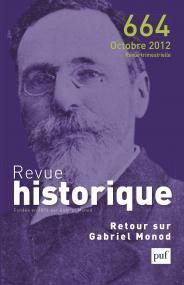 Revue historique 2012, n° 664