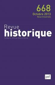 Revue historique 2013, n° 668