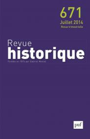 Revue historique 2014, n° 671