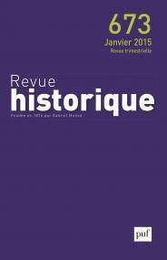 Revue historique 2015, n° 673