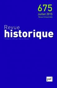 Revue historique 2015, n° 675