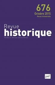 Revue historique 2015, n° 676