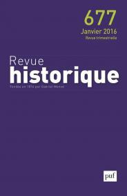 Revue historique 2016, n° 677