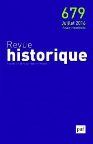 Revue historique 2016, n° 679