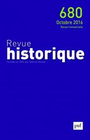 Revue historique 2016, n° 680