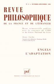 Revue philosophique 1995, t. 120 (4)