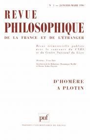 Revue philosophique 1996, t. 121 (1)