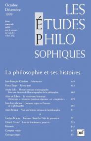 études philosophiques 1999, n° 4