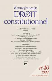 RFDC 1999, n° 40
