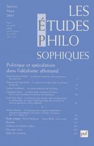 études philosophiques 2001, n° 1