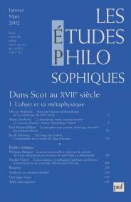 études philosophiques 2002, n° 1
