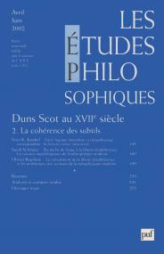 études philosophiques 2002, n° 2