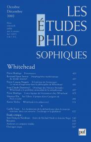 études philosophiques 2002, n° 4