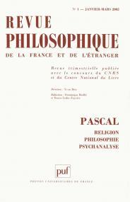 Revue philosophique 2002, t. 127 (1)