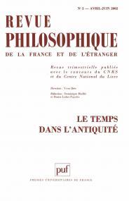 Revue philosophique 2002, t. 127 (2)