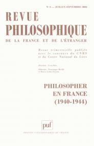 Revue philosophique 2002, t. 127 (3)