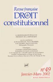 RFDC 2002, n° 49