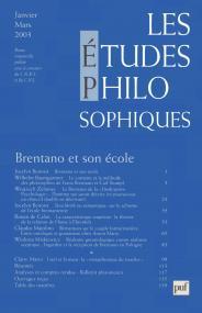 études philosophiques 2003, n° 1