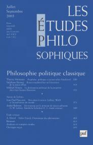 études philosophiques 2003, n° 3