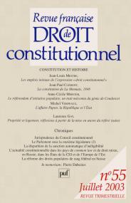RFDC 2003, n° 55