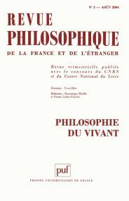 Revue philosophique 2004, t. 129 (3)