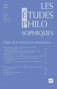 études philosophiques 2004, n° 3