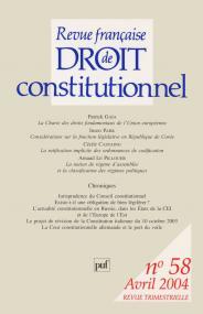 RFDC 2004, n° 58