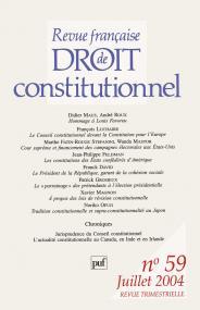 RFDC 2004, n° 59