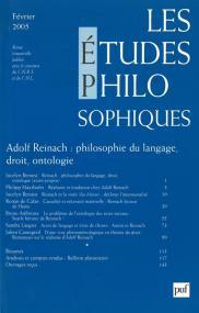études philosophiques 2005, n° 1