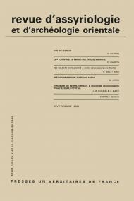 Rev. d'assyrio. et d'archéo. orient. 2003, vol. 97
