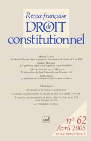 RFDC 2005, n° 62