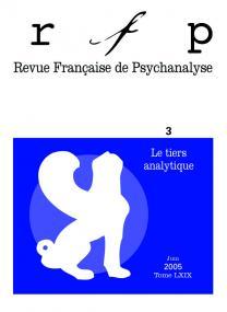 RFP 2005, t. 69, n° 3