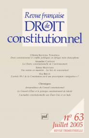 RFDC 2005, n° 63