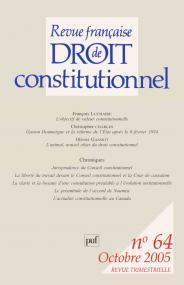 RFDC 2005, n° 64