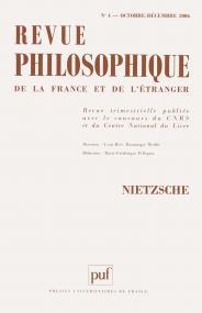 Revue philosophique 2006, t. 131 (4)