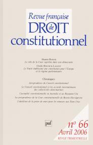 RFDC 2006, n° 66