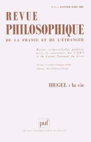 Revue philosophique 2007, t. 132 (1)