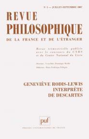 Revue philosophique 2007, t. 132 (3)