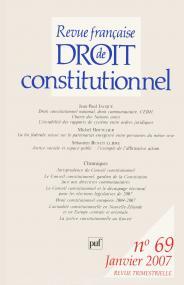 RFDC 2007, n° 69