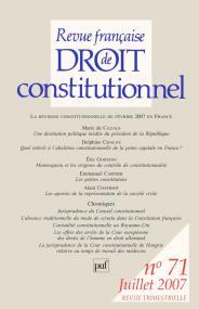 RFDC 2007, n° 71