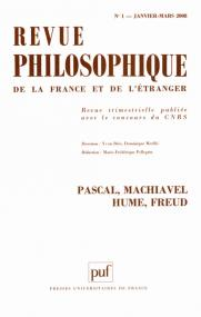 Revue philosophique 2008, t. 133 (1)